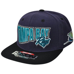 MLB American Needle Tampa Bay Devil Rays Fusion Angler Snapback Flat Bill Hat