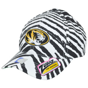 NCAA Missouri Tigers Mizzou Top of the World Smash Zubaz Zebra Snapback Hat Cap