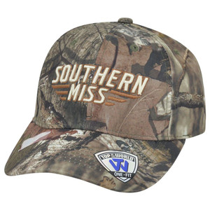 NCAA Southern Miss Golden Eagles Top of the World Camo Hunter Velcro Hat Cap
