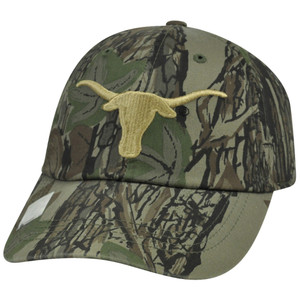 NCAA Texas Longhornes Garment Wash Velcro Hat Cap Adjustable Camo Camouflage