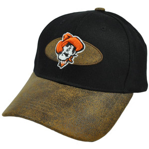 NCAA Oklahoma State Cowboys Fonz Hat Cap Construct Adjustable Faux Suede Curved