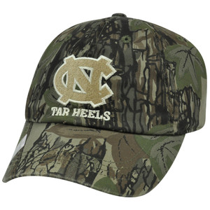 NCAA NC North Carolina Tar Heels Garment Wash Hat Cap Adjustable Camo Camouflage