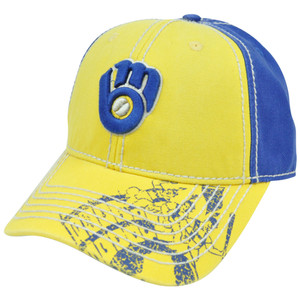 MLB Milwaukee Brewers Pro Stitch American Needle Vintage Washed Cotton Hat Cap