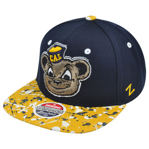 NCAA Zephyr California Golden Bears Berkeley Splatter Flat Bill Snapback Hat Cap