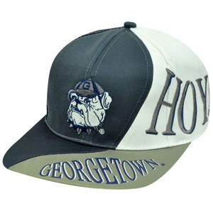 SNAPBACK HAT CAP GEORGETOWN HOYAS OLD SCHOOL VINTAGE DEADSTOCK NCAA WAVE FLAT