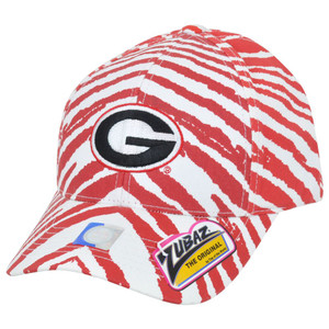 NCAA Georgia Bulldogs Dawgs Top of the World Smash Zubaz Zebra Snapback Hat Cap