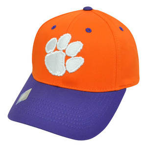NCAA Clemson Tigers Twill Cotton Curved Two Tone Snapback Adjustable Hat Cap