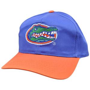 NCAA Florida Gators Blue Orange Green Vintage Retro Curved Bill Snapback Hat Cap