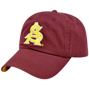 NCAA Arizona St Sun Devils Washed Twill Garment Wash Slouch Hat Cap Sun Buckle