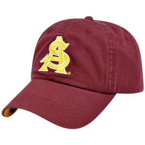 NCAA Arizona St Sun Devils Washed Twill Garment Wash Slouch Hat Cap Sun Buckle