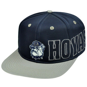 NCAA GEORGETOWN HOYAS OLD SCHOOL VINTAGE DEADSTOCK SNAPBACK FLAT BILL HAT BLUE