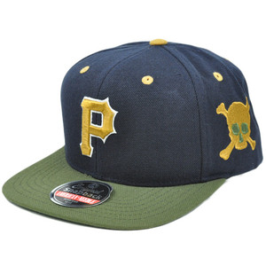 MLB American Needle Blockhead Earthtone Wool Hat Cap Snapback Pittsburgh Pirates