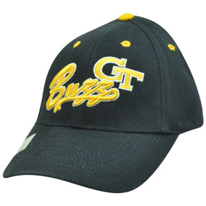 NCAA Georgia Tech Yellow Jackets Buzz Construct Adjustable Velcro Script Hat Cap