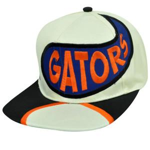 NCAA FLORIDA GATORS FLAT BILL OLD SCHOOL SNAP BACK HAT