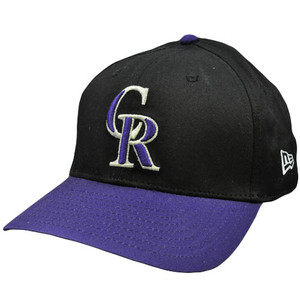 MLB Colorado Rockies Vintage Old School New Era Black Purple Snapback Hat Cap
