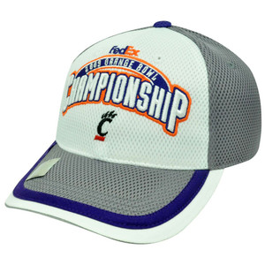 NCAA HAT CAP 2009 ORANGE BOWL CHAMPIONSHIP CINCINNATI BEARCATS WHITE PURPLE GRAY