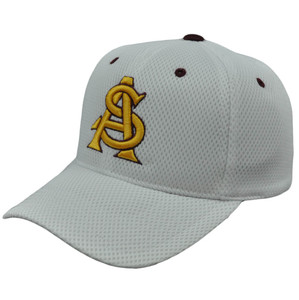 NCAA Mesh Hat Cap Arizona State Sun Devils White Delite Adjustable Constructed