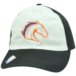 NCAA Boise State Broncos Two Tone Garment Wash White Black Sun Buckle Hat Cap