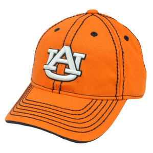NCAA Auburn Tigers Platinum Clean Up Hat Cap Semi Constructed Velcro Adjustable