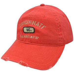 NCAA Cincinnati Bearcats Distressed Garment Wash Sun Buckle Adjustable Hat Cap