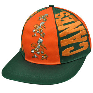 NCAA Miami Hurricanes Snapback Triple Threat Vintage Deadstock Hat Cap