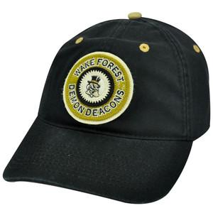NCAA Wake Forest Demon Decons Black Cotton Adjustable Mens Adult Hat Cap