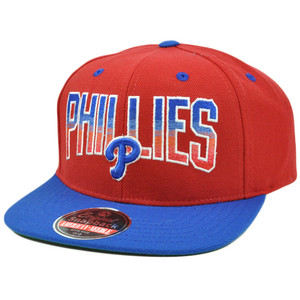 MLB American Needle Retro Snapback Hat Cap Hayes Flat Bill Philadelphia Phillies