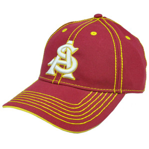 NCAA Hat Cap Arizona State Sun Devils Platinum Clean Up Semi Constructed Velcro