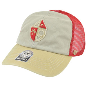 '47 Brand San Francisco 49ers McNally Clean Up Retro Tricolor Snap Back Hat Cap