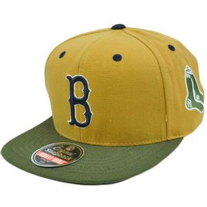 MLB Boston Red Sox American Needle Blockhead Earthtone Wool Snapback Cap Hat