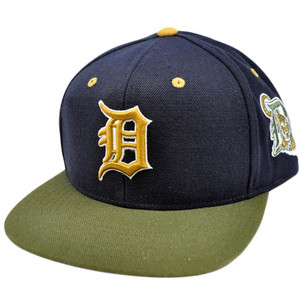 MLB Detroit Tigers American Needle Blockhead Earthtone Wool Snapback Cap Hat