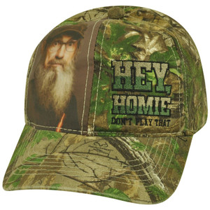 Duck Dynasty Velcro Hey Homie Don't Play That Reality TV Show Camouflage Hat Cap