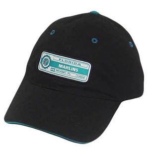 MLB FLORIDA MARLINS MIAMI BLACK BLUE BASEBALL HAT CAP