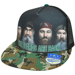 Duck Dynasty Beards Are Back A&E TV Series Mesh Trucker Snapback Trucker Hat Cap