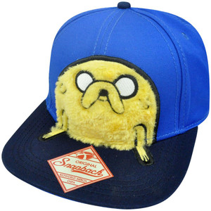 Adventure Time 3D Furry Jake Adjustable Snapback Flat Bill Constructed Hat Cap