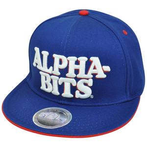 Alpha-Bits Post Foods Breakfast Brand Cereal Snapback Flat Bill Novelty Hat Cap