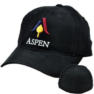 Aspen Mountain Ski Resort Snow Hotel Flex Stretch Fit Small Medium Hat Cap