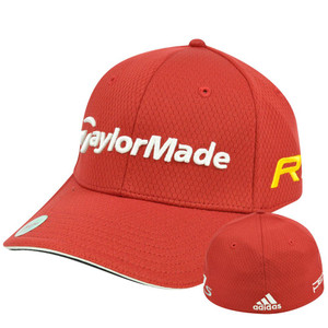 Adidas Ashworth Golf Hat Cap Penta Taylor Made R11 Red Stretch Flex Fit L/XL