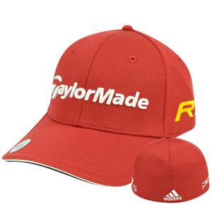 Adidas Ashworth Golf Hat Cap Penta Taylor Made R11 Red Stretch Flex Fit L/XL