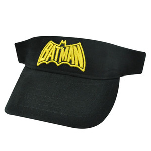 BATMAN DC COMICS BLACK YELLOW YOUTH KIDS VISOR HAT