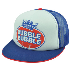 Americas Original Dubble Bubble Gum Distressed Trucker Mesh Snapback Hat Cap