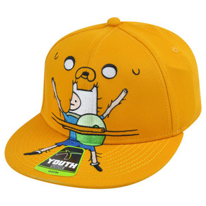 Adventure Time Finn and Jake Bro Hug One Size Youth Flex Fit Cartoon Tv Hat Cap