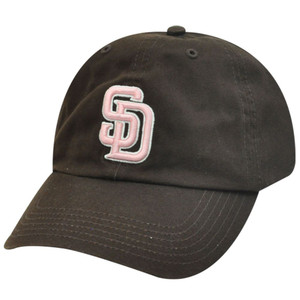 MLB SAN DIEGO PADRES BROWN GARMENT WASH COTTON HAT CAP