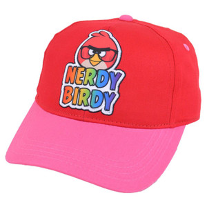 Angry Birds Rovio Nerdy Birdy Video Game Youth Girls Snapback Velcro Hat Cap