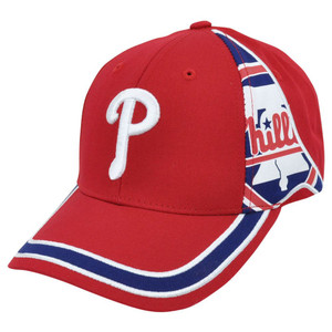 MLB Fan Favorite Philadelphia Phillies Ellison Striped Velcro Adjustable Hat Cap
