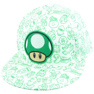 Nintendo Super Mario Bro 1-Up Mushroom Character Flat Bill Flex Fit L/XL Hat Cap