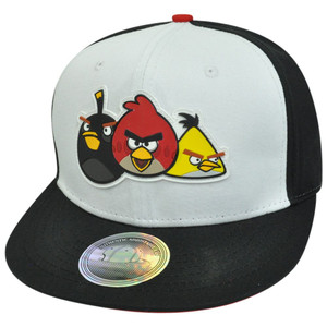 Angry Birds Video Game Fire Bomb The Crew Flat Bill Two Tone Snapback Hat Cap