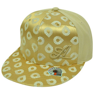 Akademiks Urban Urban Clothing Hip Hop Music Snapback Gold Satin Hat Cap 7 1/2