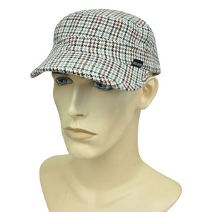 Brand Peter Grimm Fatigue Houndstooth Striped Military Fitted Medium Hat Cap