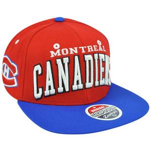 NHL LNH Montreal Canadiens Super Star 32/5 Flat Bill Zephyr Snapback Hat Cap